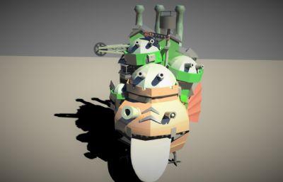 哈尔的移动城堡maya简模