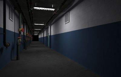 地下走廊�^道通道�鼍�3D模型