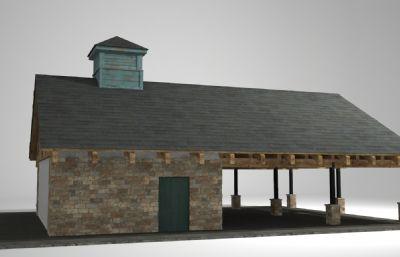 公共厕所建筑3D模型