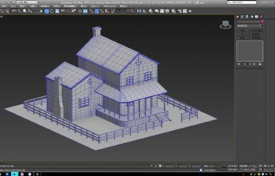�l村小屋max模型