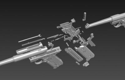 �格104手��max,fbx模型