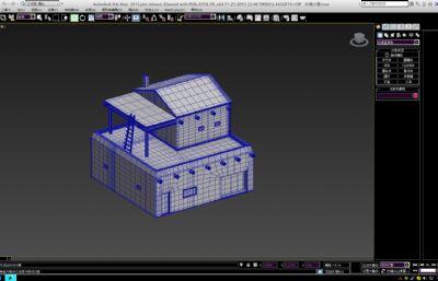 沙漠小屋max模型