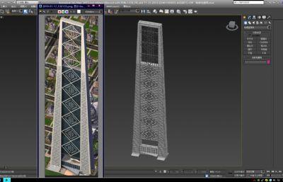 城市标志性建筑,地标建筑max模型