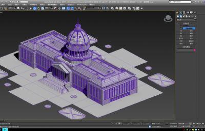 国外历史悠久的博物馆max模型