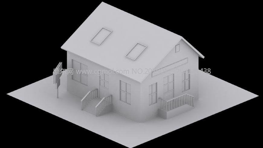 �W美�l村小屋max2015白模