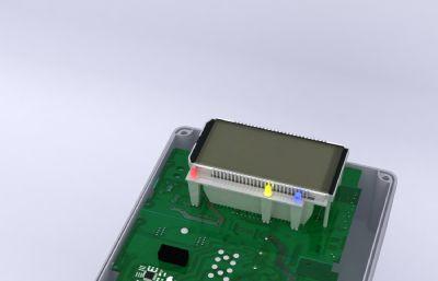 电表maya模型,内置电路版也已做