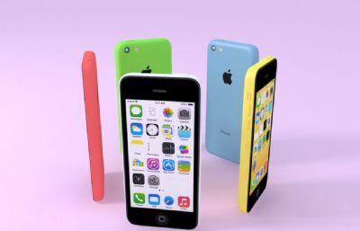 iPhone5c手�C模型,多款�色的max模型