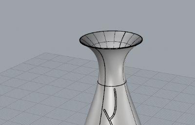 花瓶,日式小酒��3dm,stp格式模型