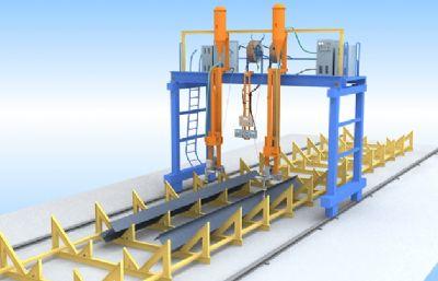 H型钢船焊机械模型,max模型