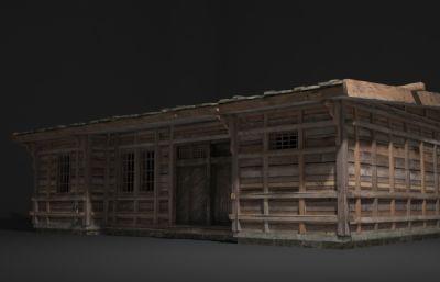 木房子民居平房建筑3D模型