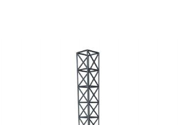 钢架OB模型,基础建筑结构