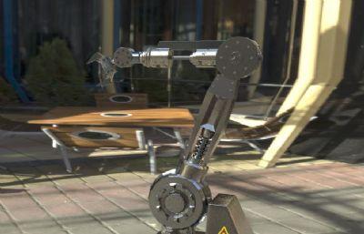 �C械臂,工�I�C械手OBJ模型