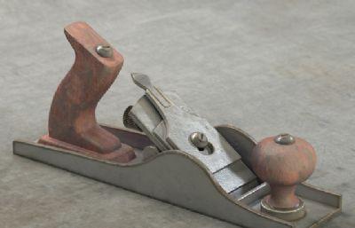 木匠工作用的木手�w�C,削平木�K工具MAX模型