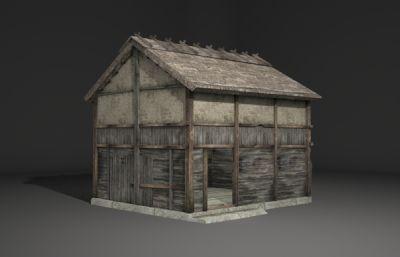 古建筑特色木房子3D模型
