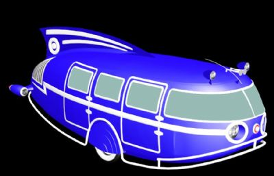 富有科技感的三轮能源汽车模型,3ds,obj格式