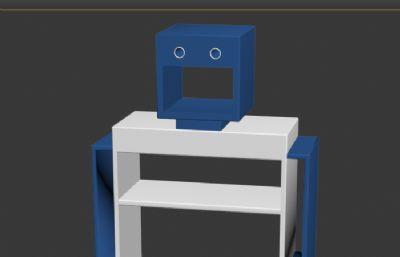 机器人书架max模型