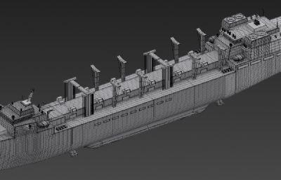 大型补给船,补给舰max2015模型