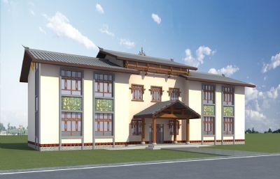 彝族村委��建筑max2012模型