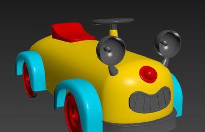 儿童玩具小车车,玩具扭扭车FBX模型