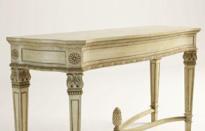 木制桌案max模型