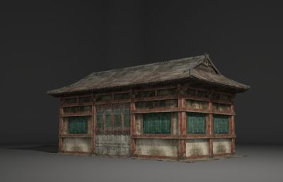 古建筑小屋3D模型
