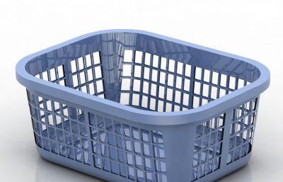 蓝色菜篮子,漏水篮子max,3ds模型