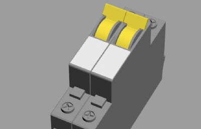漏电保护开关3ds模型