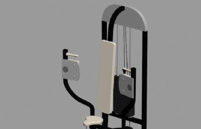 臂力机-健身器材3DS模型