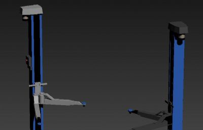 固定位货物提升叉车3DS模型