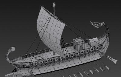 古埃及战船max2015模型