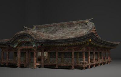 古建筑特色祠堂房子3D模型