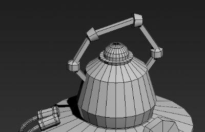 手提灯,游戏低模道具max模型