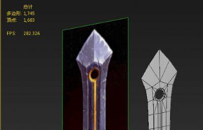 戰士刀低模max2015模型