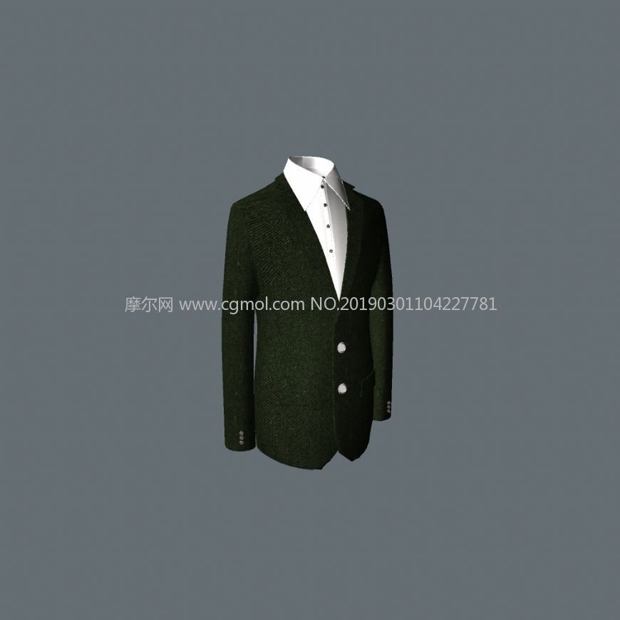 西裝,西服上衣MAX,OBJ格式模型