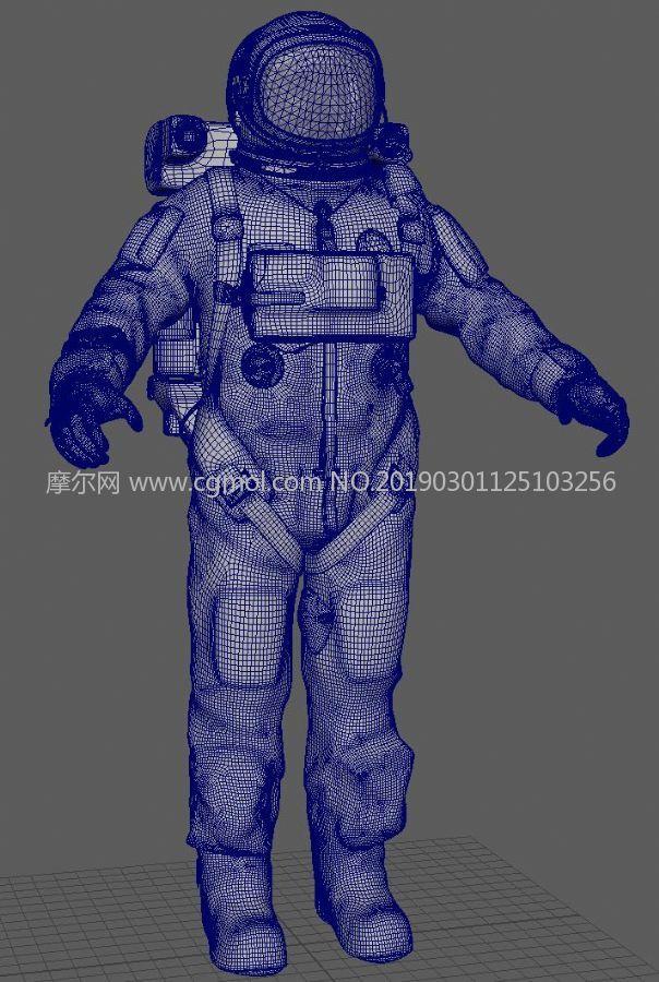 美��宇航服FBX模型,有�N�D