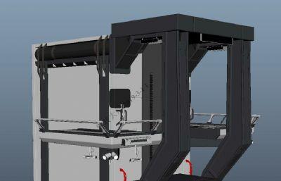科幻道具台子,操作台maya模型