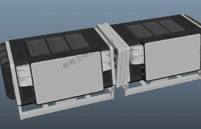 科幻台子箱子道具maya模型