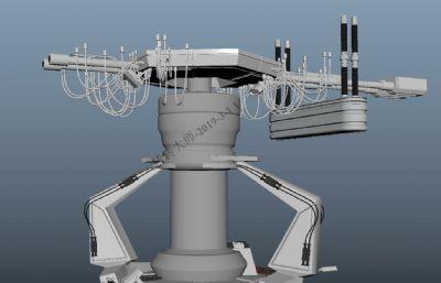 科幻道具,�l射器Maya模型