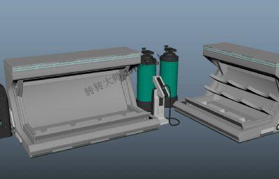 ��w,���w,�夤薜雀鞣N科幻道具maya模型
