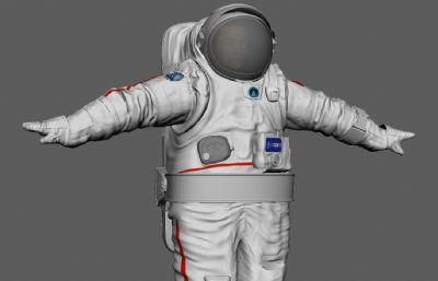 中��宇航�T�w天宇航服maya模型