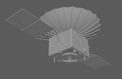 嫦娥四號聯系的中繼衛星FBX模型