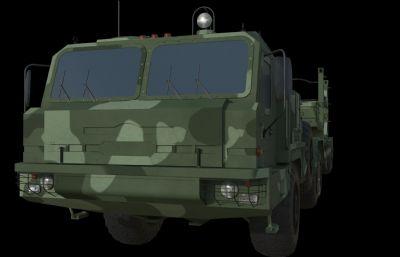 軍用運輸車maya模型,redshift渲染器渲染