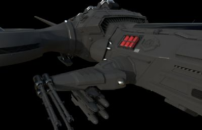 �w船,太空船,�w行器maya模型,redshift渲染