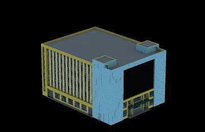 办公楼,带电子显示屏的商场max模型