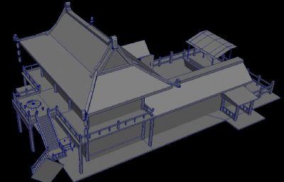 茶��,客��,�A站古代游��鼍�maya模型