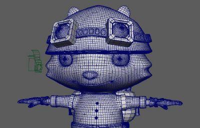 提莫maya模型