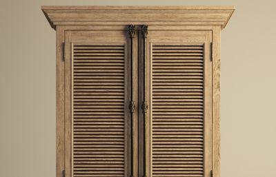 复古衣柜,橱柜模型