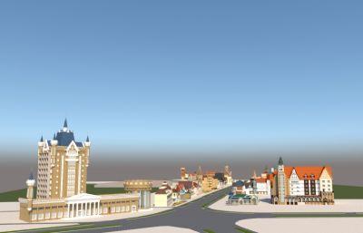 欧洲风情街,商业街街道