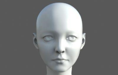 ��逝�性人�^�^部OBJ模型