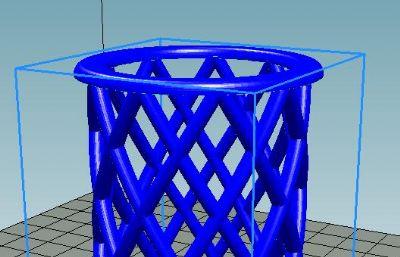 镂空笔筒STL模型